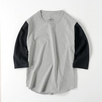 【メンズ】7分袖 ベースボールTシャツ