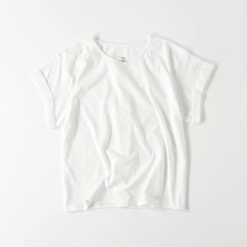 【レディース】ロールアップ Tシャツ